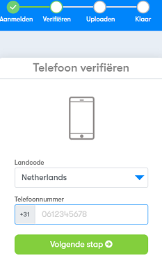 BTC direct telefoon registratie