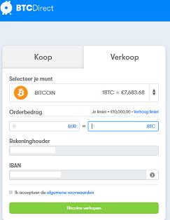 Bitcoin verkopen BTCdirect