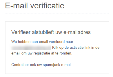 E-mail verificatie LiteBit
