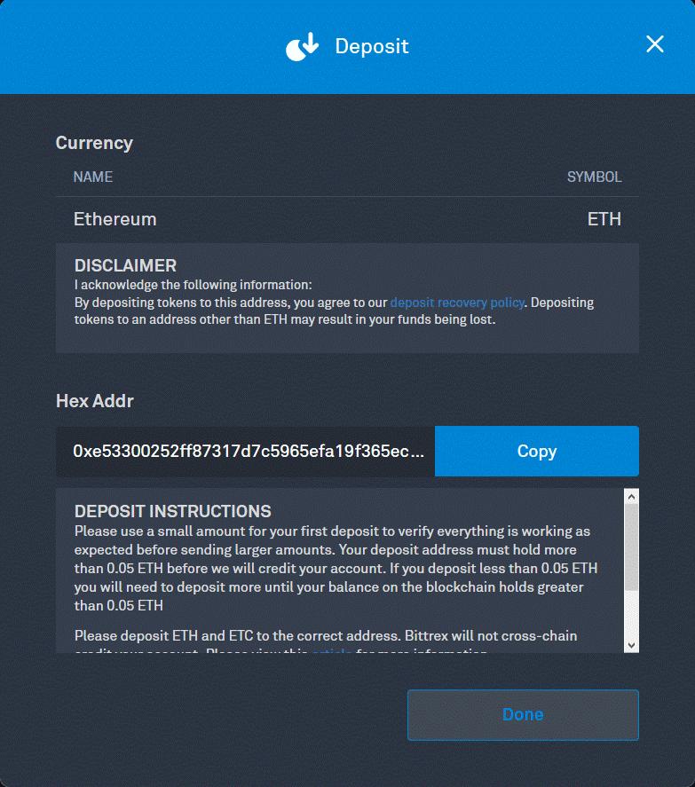 Bittrex Ethereum