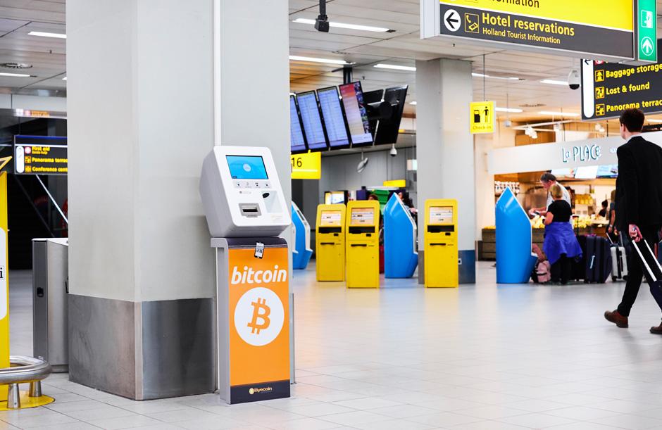 Bitcoin atm op Schiphol